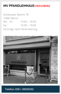 Pfandleihhaus in Kreuzberg