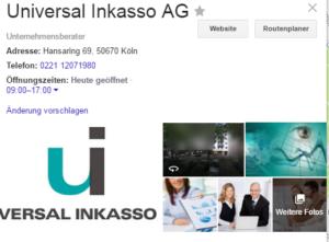 Universal-Inkasso-AG-Adresse-Öffnungszeiten