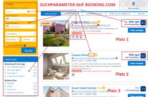 Suchparameter und HotelRanking auf Booking.com