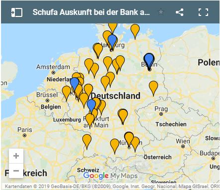 Schufa Auskunft bei der Bank in Deutschland