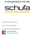 Schufa Auskunft Bonitätscheck sofort online erhalten