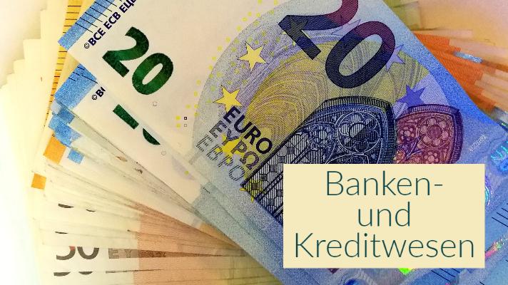 Geldscheine: Bank- und Kreditwesen